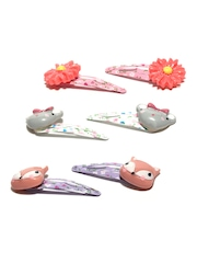 Accessorize Girls Set of 6 Hair Clips