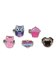 Accessorize Girls Set of 5 Rings