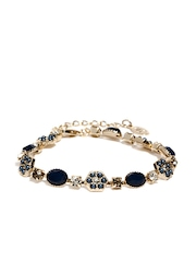 Accessorize Gold Toned & Blue Bracelet
