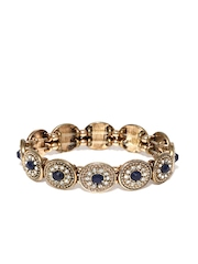 Accessorize Gold-Toned & Blue Bracelet