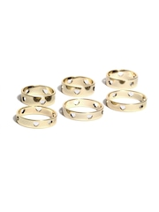 Accessorize Set of 6 Gold Toned Rings