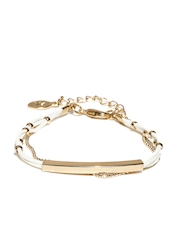 Accessorize White & Gold-Toned Bracelet