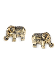 Accessorize Antique Gold Toned Stud Earrings