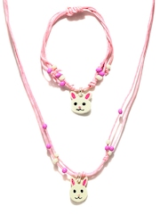 Accessorize Girls Pink Jewellery Set
