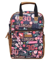 Accessorize Women Multicoloured Printed Backpack