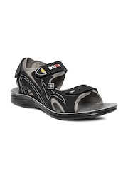 Men Black Sports Sandals Flotter