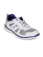 Action Women White & Silver-Toned Sports Shoes