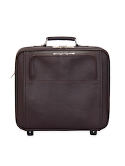 Adamis Unisex Brown Luggage Bag