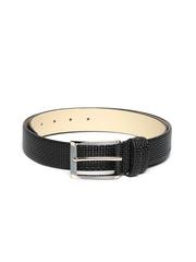 Addons Men Black Leather Belt
