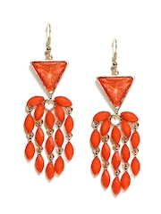 Addons Orange Drop Earrings