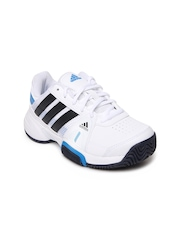 Adidas Kids White Barricade Team 3 Sports Shoes