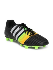 Adidas Men Black & Orange Nitrocharge 4.0 FG Football Shoes
