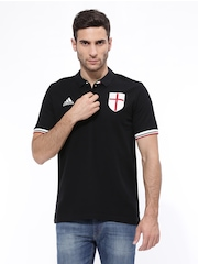 Adidas Men Black ACM Soccer Polo T-shirt