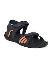Adidas Men Black Avior Sports Sandals
