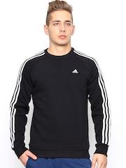 Adidas Men Black ESS 3S CREW SW Training Sweatshirt