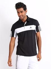 Adidas Men Black Polo T-shirt