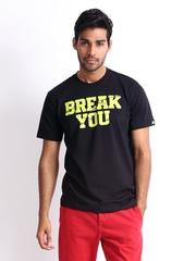 Adidas Men Black Printed T-shirt