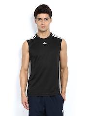 Adidas Men Black Sleeveless T-shirt