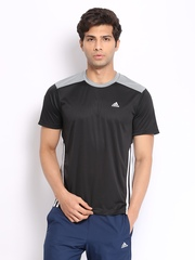 Adidas Men Black T-shirt