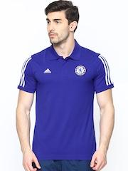 Adidas Men Blue CFC CO Football Polo T-shirt