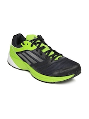 Adidas Men Dark Blue and Neon Green Lite Arrow 2 M Sports Shoes