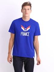 Adidas Men Blue Printed France T-shirt