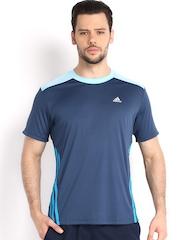 Adidas Men Blue T-shirt