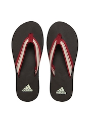 Adidas Men Brown & Red Adze Flip Flops