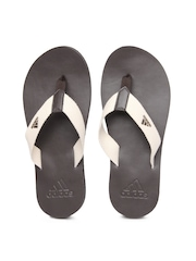 Adidas Men Cream Coloured Flip Flops