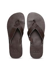 Adidas Men Dark Brown Aeron Lea Flip-Flops