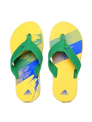 Adidas Men Green & Yellow Chesil Flip Flops