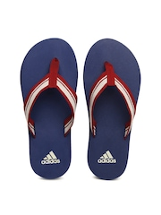 Adidas Men Red and Blue Adze Flip Flops