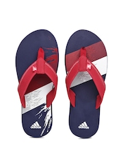 Adidas Men Red Chesil Flip Flops