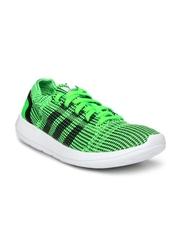 Adidas Men Green & Black Element Refine Tricot Sports Shoes