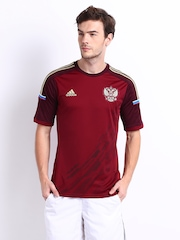 Adidas Men Maroon Russian Home Football Jersey
