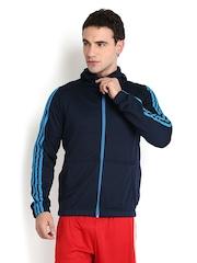 Adidas Men Navy Hooded Jacket