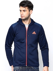 Adidas Men Navy Hooded Training Sweatshirt