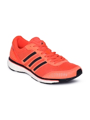 Adidas Men Neon Orange Adizero Adios Boost 2 M Running Shoes