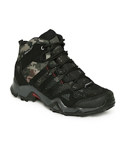 Men Olive Green Camouflage Print AX2 Mid CP Camo Outdoor Shoes Adidas