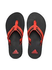 Adidas Men Red & Black Adze Flip-Flops