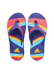 Adidas Men Red & Blue Flip Flops