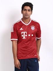 Adidas Men Red Bayern Munich FC Football Jersey