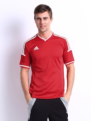 Adidas Men Red T-shirt