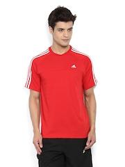Adidas Men Red T-shirt