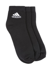 Adidas Men Set of 3 Black Socks