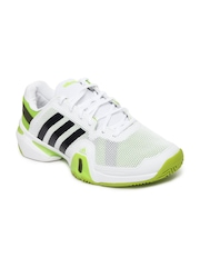 Adidas Men White Adipower Barricade 8 Sports Shoes