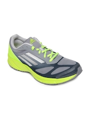 Adidas Men Grey & Fluorescent Green Lite Pacer M Sports Shoes