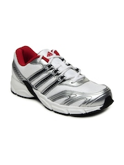 Adidas Men White & Silver Toned Blazon 1 M Sports Shoes