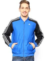 Men Blue & Black Training Jacket Adidas