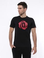 Adidas Men Black Rose Logo Climalite Basketball T-shirt